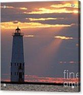 Frankfort North Breakwater Lighthouse Acrylic Print