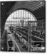 Frankfurt Bahnhof - Train Station Acrylic Print