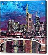 Frankfurt Main Germany - Mainhattan Skyline Acrylic Print