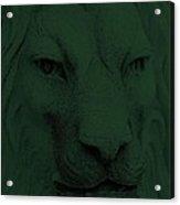 Frankie Lion Olive Green Acrylic Print