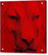 Frankie Lion Red Acrylic Print