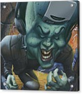 Frankinstein Playing The Air Guitar - Parody - Illustration - Monster Monsters - Humorous Acrylic Print