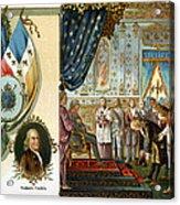 Franklin At Versailles Acrylic Print