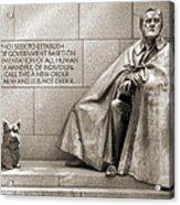 Franklin Delano Roosevelt Memorial - Bits And Pieces 7 Acrylic Print