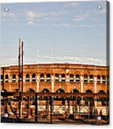 Franklin Field In The Morning Acrylic Print