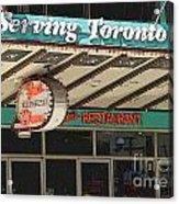Fran's Restaurant  Toronto Diner Icon Acrylic Print