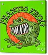 Frantic Frog Acrylic Print
