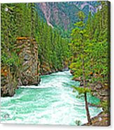 Fraser River Beyond Overlander Falls Along Yellowhead Highway-bc Acrylic Print