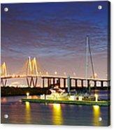 Fred Hartman Bridge From Bayland Marina - Houston Texas Acrylic Print