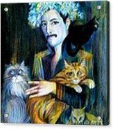 Freddie Mercury Acrylic Print