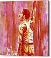 Freddie Mercury Singing Portrait.3 Acrylic Print