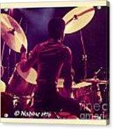 Freddie White Playing Drums Spirit Tour Acrylic Print