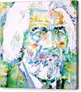 Frederick Douglass - Watercolor Portrait Acrylic Print
