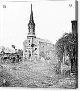 Fredericksburg Baptist Church damaged by battles 1864 Acrylic Print