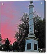 Fredericksburg Cemetery Sunset Acrylic Print