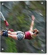 Free As A Bird Bungee Jumping Acrylic Print