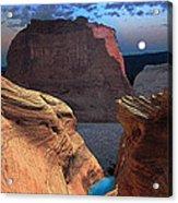Free Climbing Glen Canyon Acrylic Print by Ric Soulen