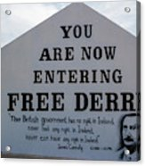 Free Derry Corner, Republican Political Acrylic Print