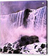 Free Falls Oil Effect Image Acrylic Print