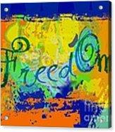 Freed Om Acrylic Print