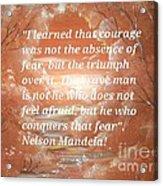 Freedom And Courage Acrylic Print