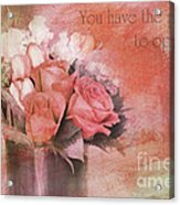 Freedom Flowers Acrylic Print