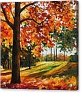 Freedom Of Autumn - Palette Knife Oil Painting On Canvas By Leonid Afremov Acrylic Print