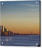 Freedom Tower And Lower Manhattan On The Hudson Acrylic Print