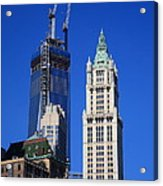 Freedom Tower And Woolworth Building Acrylic Print