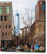 Freedom Tower From Washington Square Acrylic Print