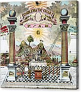 Freemason Emblematic Chart Acrylic Print