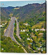 Freeway Sepulveda Pass Traffic Bel Air Crest California Acrylic Print