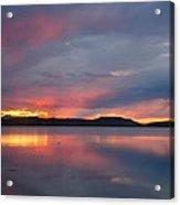 Freezeout Lake Sunset Acrylic Print