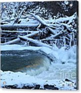 Freezing Dam Acrylic Print