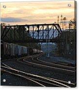 Freight Sunset Acrylic Print