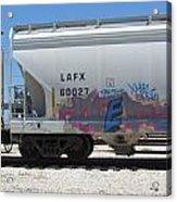 Freight Train Graffiti 7 Acrylic Print