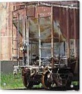 Freight Train Wheels 12 Acrylic Print