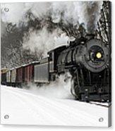 Freight Train With Steam Locomotive Acrylic Print