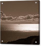 Freighter And The Catalina Channel Acrylic Print