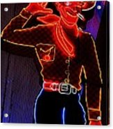 Fremont Cowboy Acrylic Print