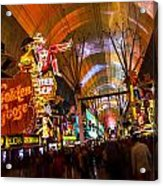 Fremont Street Experience Lights Acrylic Print