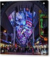 Fremont Street Lights Acrylic Print