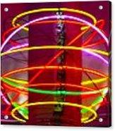 Fremont Street Neon Sphere Acrylic Print