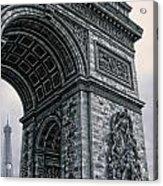 French - Arc De Triomphe And Eiffel Tower II Acrylic Print