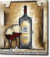 French Bordeaux Original Madart Painting Acrylic Print