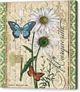 French Botanical Damask-d Acrylic Print