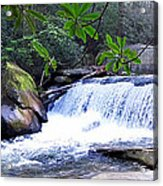 French Broad River Waterfall Acrylic Print