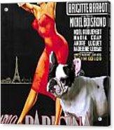 French Bulldog Art - Una Parigina Movie Poster Acrylic Print