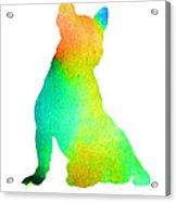 French Bulldog Image Art Silhouette Acrylic Print