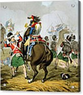 French Cuirassiers At The Battle Acrylic Print